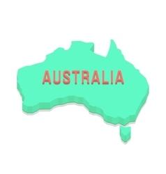 green 3d Australia silhouette vector image