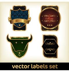 labels set vector image