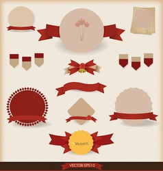 Set of vintage and retro design elements vector image