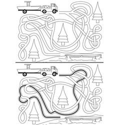 vacation maze vector image vector image