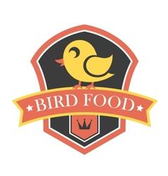Bird food emblem vector image vector image