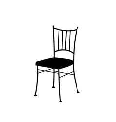 dining chair- logo for interior design vector image vector image