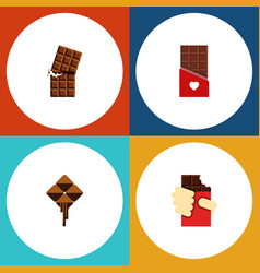 Flat icon cacao set of wrapper chocolate vector