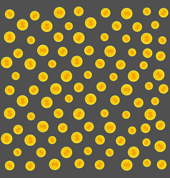 gold coins pattern on a gray vector image