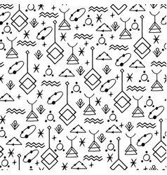 symbolic linear pattern vector image vector image