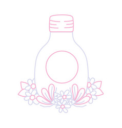 Color line mason glass with flowers and leves vector