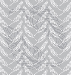 Feathers seamless background Beautiful pattern vector image vector image