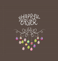hand draw doodle easter eggs ornament vector image vector image