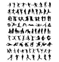 silhouettes of people 3 vector image vector image