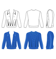 Ballroom dancing long sleeve t-shirt vector