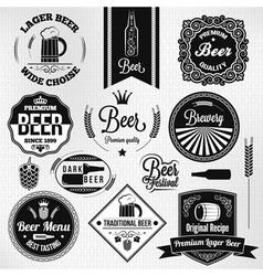 beer labels set vector image vector image