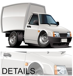 cartoon delivery pickup vector image vector image