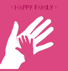 child hand vector image