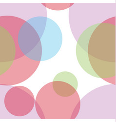 colorful abstract circles seamless pattern vector image vector image