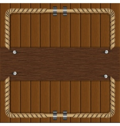frame of boards with a metal frame vector image