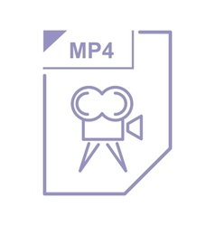 MP4 file icon cartoon style vector image vector image