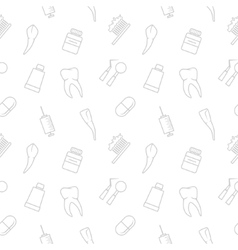 Seamless teeth pattern vector