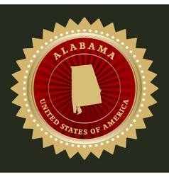 Star label Alabama vector image