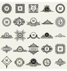 Vintage Monogram Design Templates Icons Symbols vector image
