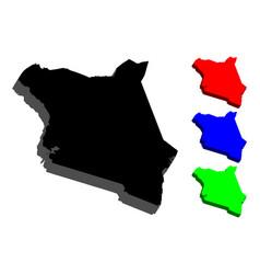 3d map of kenya vector image