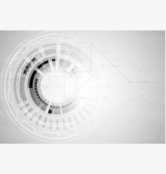 Abstract futuristic high technology computer vector