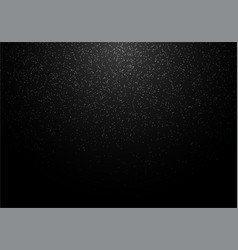abstract white glitter on black background snow vector image