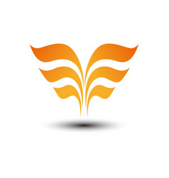 abstract wings logo vector image