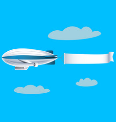 airship with empty banner vector image