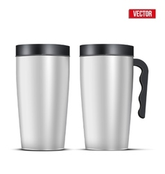 Aluminum mug set vector