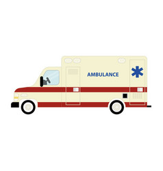 ambulance bus icon vector image