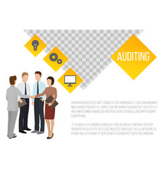 auditing banner businessmen vector image
