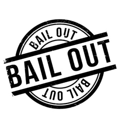 Bail out stamp vector image