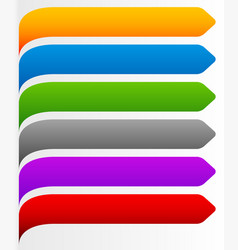 Banner bookmark background curved at left edge vector