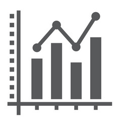 Bar graph glyph icon growth and chart vector