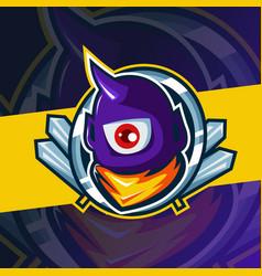 Bee or hornet mascot esport logo template vector