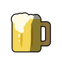 Beer glass cup foam cold fresh vector