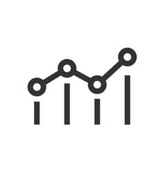 benchmark measure icon in flat style dashboard vector image