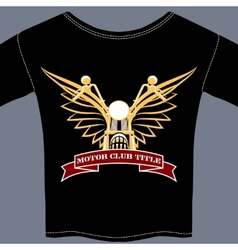 biker tee shirt vector image