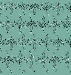 black leaves with green background vector image