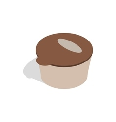 Brown plastic container for food storage icon vector image