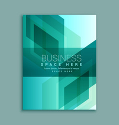 business brochure design in modern abstract shapes vector image