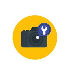 camera repair service vector image