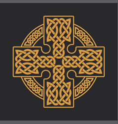 Celtic cross ethnic ornament t-shirt print vector