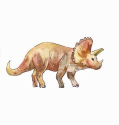 Ceratops watercolor vector