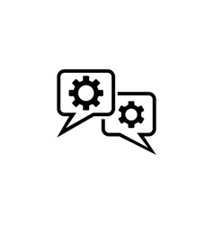 chat settings flat icon vector image