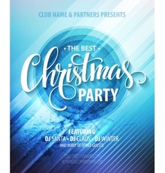 Christmas night party poster or flyer vector image