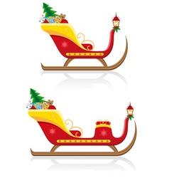 Christmas santa sleigh 03 vector