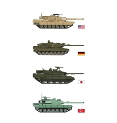 Collection Military Transportation of tanks vector image