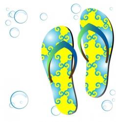 colored flip-flops vector image