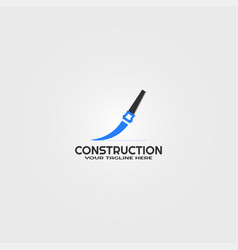 construction logo template logos for business vector image
